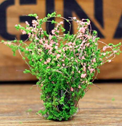 NIAN Arbusto Artificial Flor Miniatura Jardín de Hadas Casas en el hogar Decoración Mini Craft Micro Paisajismo Decoración Accesorios de Bricolaje, Rosa: Amazon.es: Hogar