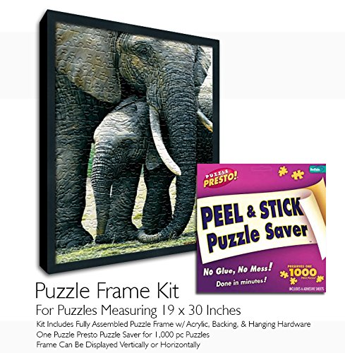 Jigsaw Puzzle Frame Kit - Made to Display Puzzles Measuring 19x30 Inches by Buffalo Games