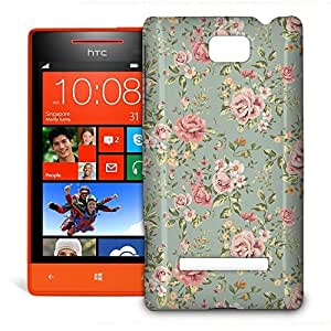 Phone Case For HTC 8S - Pastel Floral Wallpaper Hardshell Wrap-Around