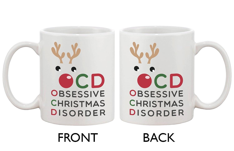 Amazon.com: Funny Christmas Coffee Mug   OCD Obsessive Christmas .