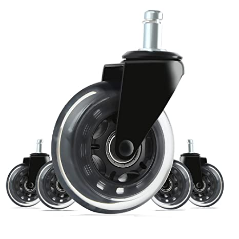 Rollerblade Chair Wheels Heavy Duty Replacement Rubber Office Chair Caster Set Of 5 Silicone Wheels To Protect Hardwood Floors Desk Chair Casters Magna Office Chair Wheels 3 Universal Fit Talkingbread Co Il