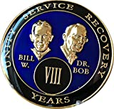 8 Year Founders Blue Tri-Plate AA Medallion Bill & Bob Chip VIII