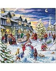 20 servetten bezoek aan de kerstmarkt | winter | Kerstmis | tafeldecoratie 33x33cm