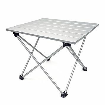 LUUFAN Mesa de Camping Plegable de Aluminio Ultraligero, Mesa ...