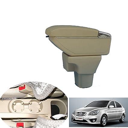Amazon com: SZSS-CAR Leather Car Center Console Armrest Box