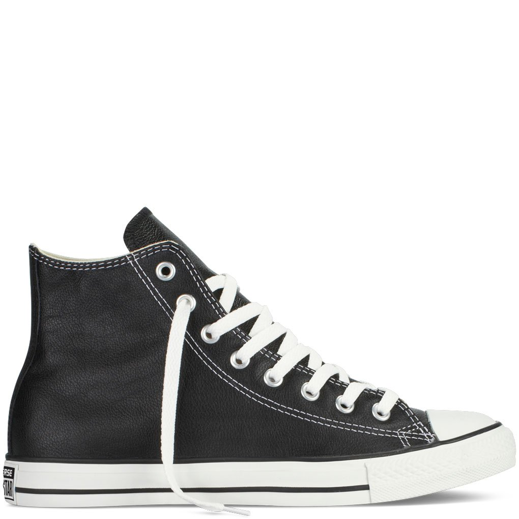 Converse Chuck Taylor All Star Hi Top Black Leather men's 7.5/ women's 9.5 by Converse