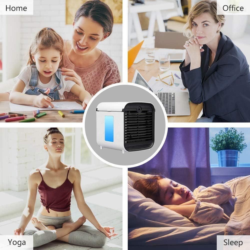 Nifogo Air Cooler Luftk/ühler Mobile Klimager/äte Klimaanlage 3 Generation 3 in 1 Portable Luftbefeuchter und Luftreiniger Leakproof Klima Ventilator