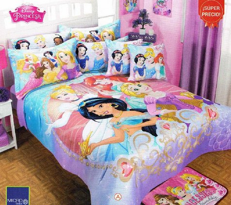 Disney Princess Magic Comforter Bedspread Sheet Set Queen 9pc Girl Jasmine Snow White Limited