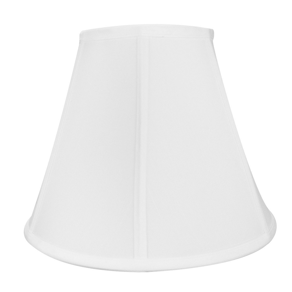 6x12x9 Empire Hardback Lampshade White Linen By Home Concept - Perfect for small table lamps, desk lamps, and accent lights -Medium, White