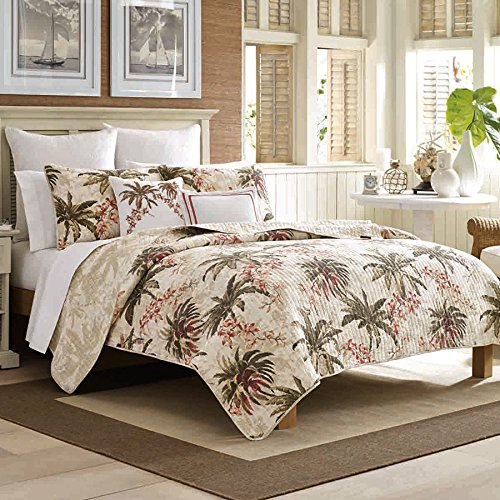 Tommy Bahama Bonny Cove Quilt Set, Full/Queen, White