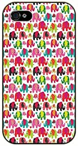 Pink elephants pattern - iPhone 5C black plastic case / Animals and Nature, elephant