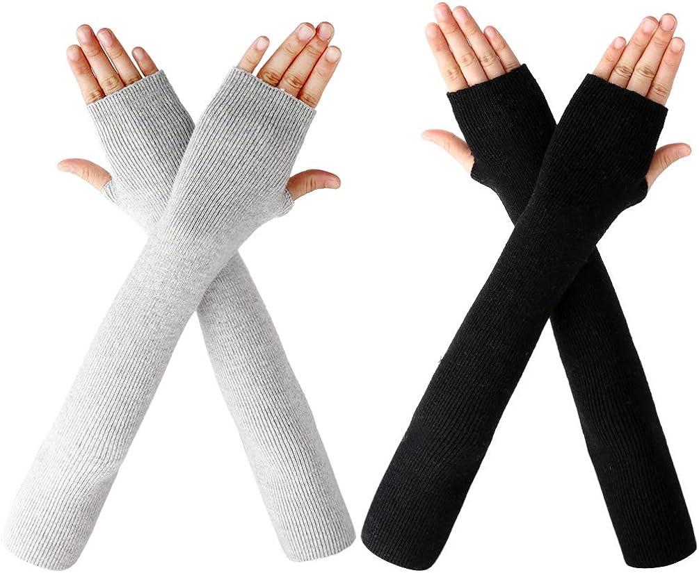 VBIGER Mujer Calentador Brazo Guantes de Invierno Suave Manguitos Guantes sin Dedos