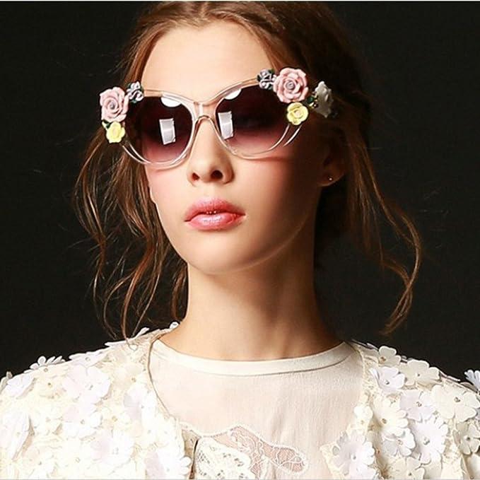 Amazon.com: Verano Flor anteojos de sol retro 3d Rose driver ...