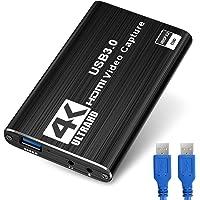 DIWUER Capturadora de Video Audio HDMI, 4K HDMI a USB3.0 Convertidor 1080P 60FPS, Edite Video Audio/Juego/Transmisión…