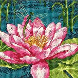 Dimensions 71-07240 Crafts Needlepoint Kit, Dragon Lily