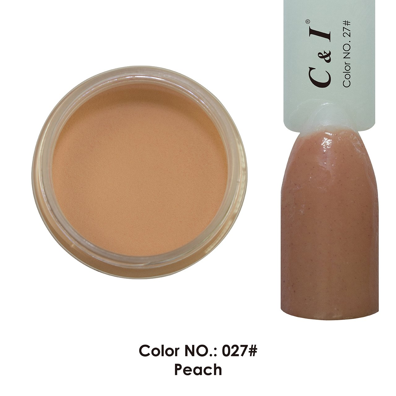 C & I Dipping Powder Color No.027 Peach Yellow Color System Fulei Trading