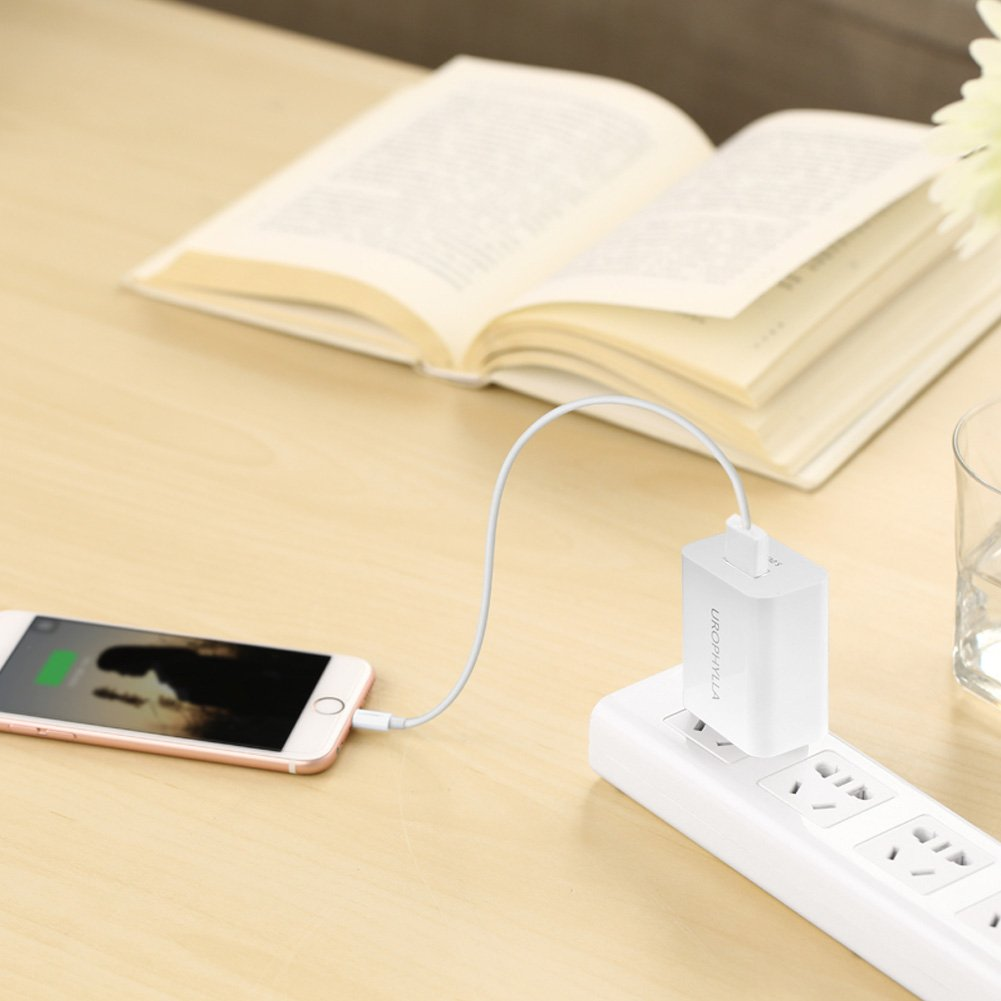Amazon.com: Wall Charger, USB Wall Charger, UROPHYLLA 12W 2.4A Mini ...