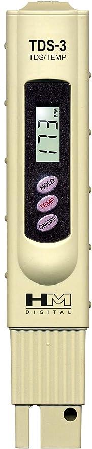 Hm Digital Tds 3 Handheld Tds Meter Mit Tragetasche 0 9990 Ppm Tds Messbereich 1 Ppm Auflösung 2 Ablesegenauigkeit Baumarkt