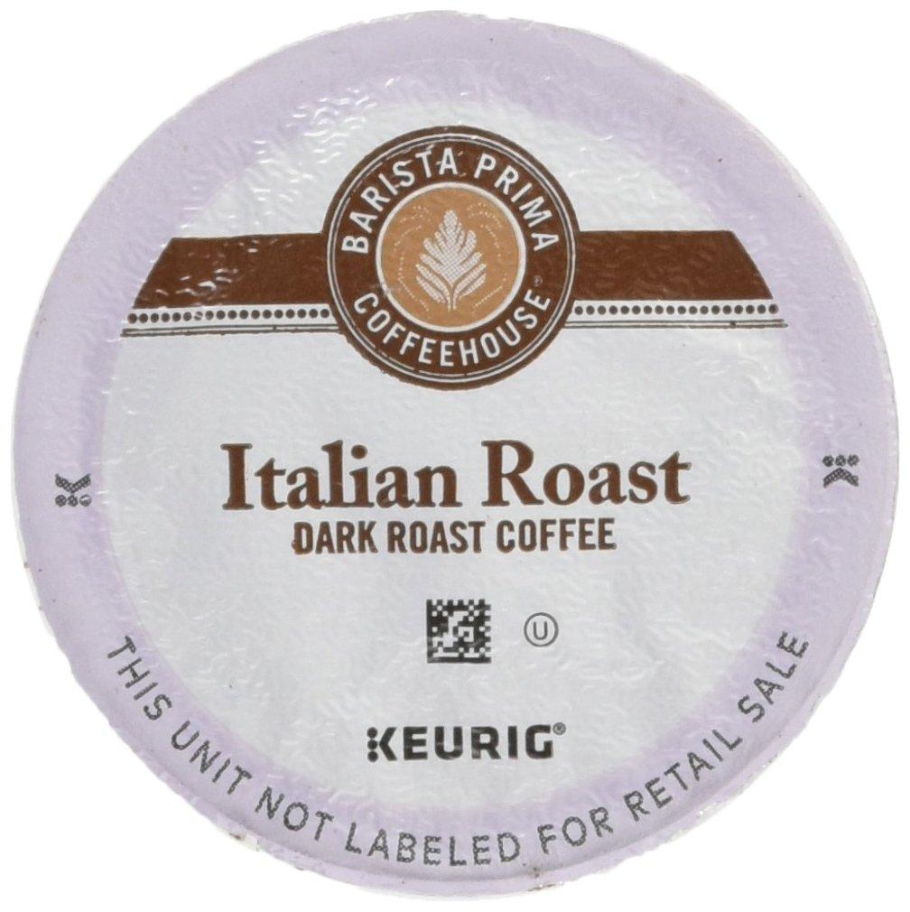 Barista Prima Coffeehouse Coffee, Keurig K-Cups, Italian Roast, Dark Roast, 24- Count