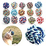 GIG Pet Puppy Dogs Knots Strengthen Teeth Rope Cottons Chews Toy Ball Play Fun