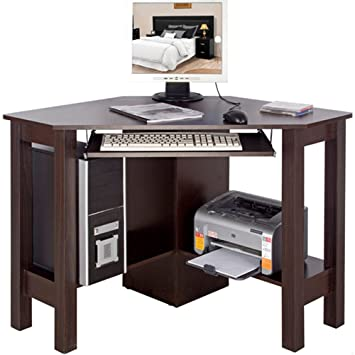 corner office computer desk. HORNER - Corner Office Desk / Computer Workstation Walnut F