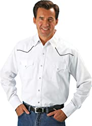 5eaf47b714b ELY CATTLEMAN Men s Contrasting Piped Yoke Western Shirt - 15202980-89