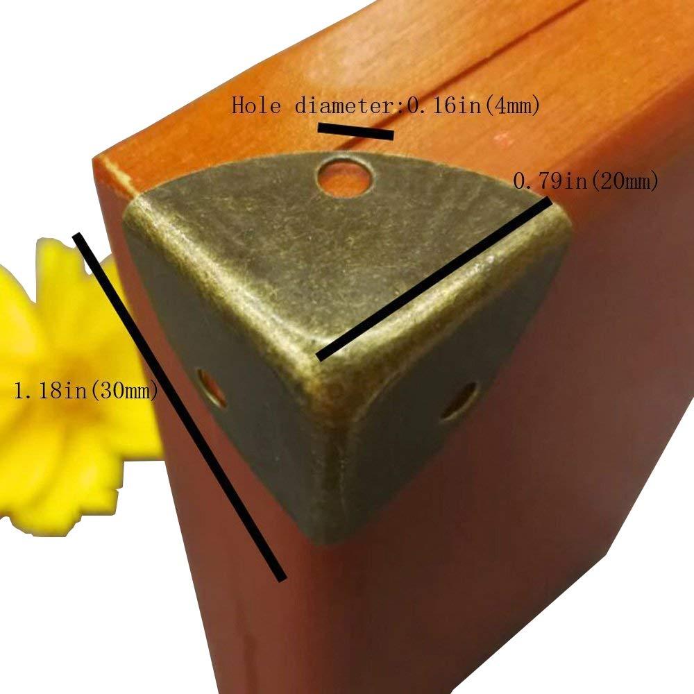 Protections coin de d/écoratifs 8 Pcs Coin support Bracket renforts dangle meubles mat/ériel Armoire Bo/îte /à bijoux coins Coque Pad