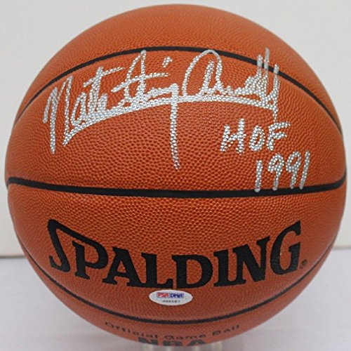 Tiny Archibald Autographed Basketball - Nate Full Official Spalding Leather - PSA/DNA Certified - Autographed Basketballs