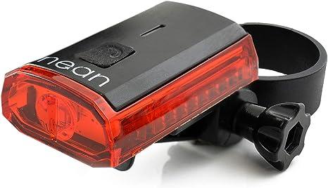 nean Piloto Trasero con luz LED para Bicicleta con batería y ...