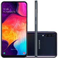 "Smartphone Samsung Galaxy A50 64GB 6.4"" 4GB RAM Câmera Traseira Tripla 25MP 5MP 8MP Preto"