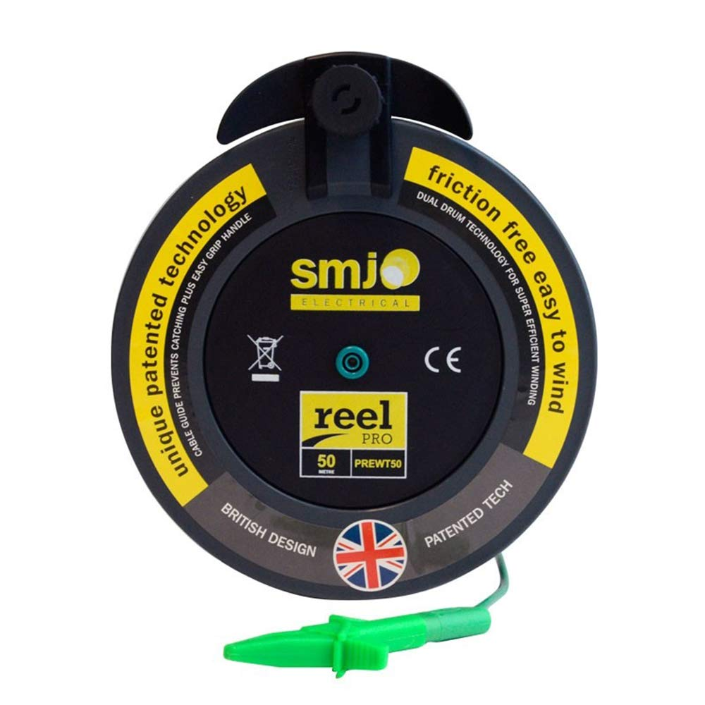 SMJ 50 Meter R2 Earth Bond Wander Lead for Multifunction and Insulation testers (Detachable Crocodile Clip)