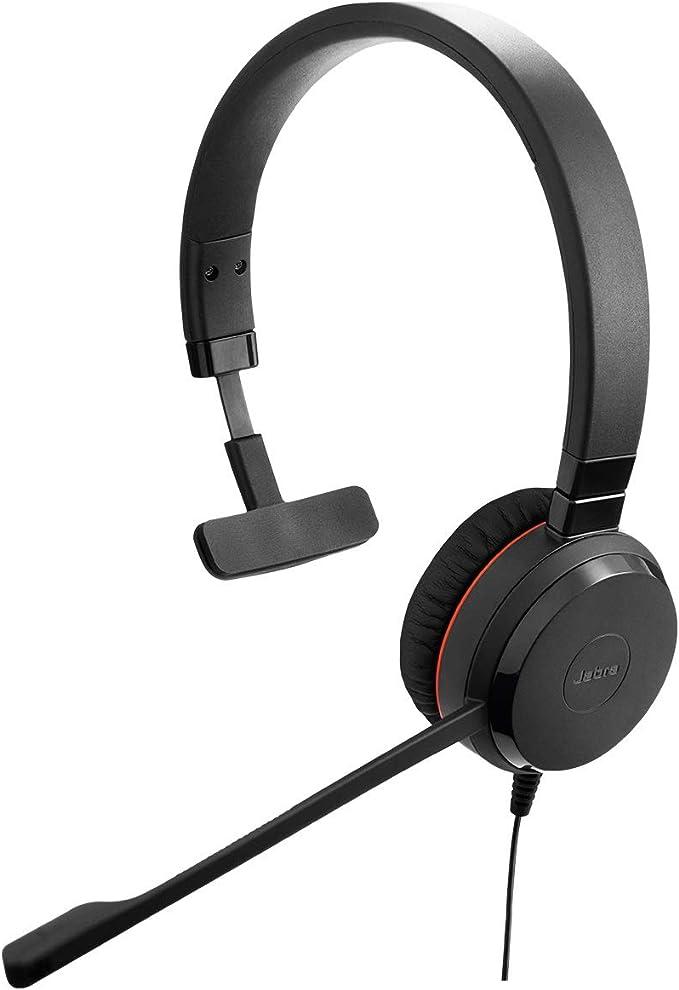 Jabra Evolve 30 Ms Mono Headset Microsoft Zertifizierte Kopfhörer Für Voip Softphone Mit Passivem Noise Cancelling Usb Kabel Mit Anrufsteuerung Schwarz Elektronik
