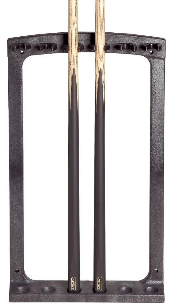 Wandhalter f/ür 6 Queues aus Fiberglas mit Soft-Clips