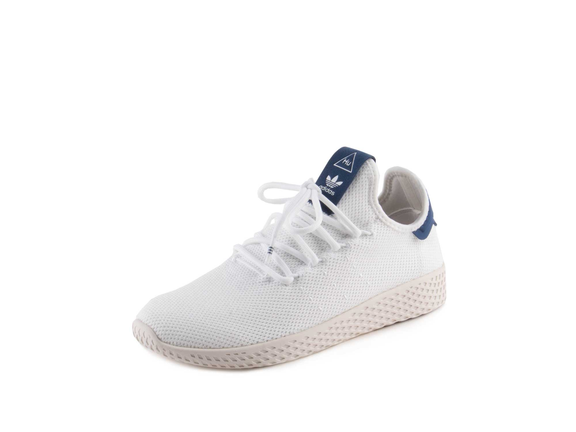 adidas Originals Women's PW Tennis HU W Sneaker, FTWR White, FTWR White, Chalk White, 6.5 M US