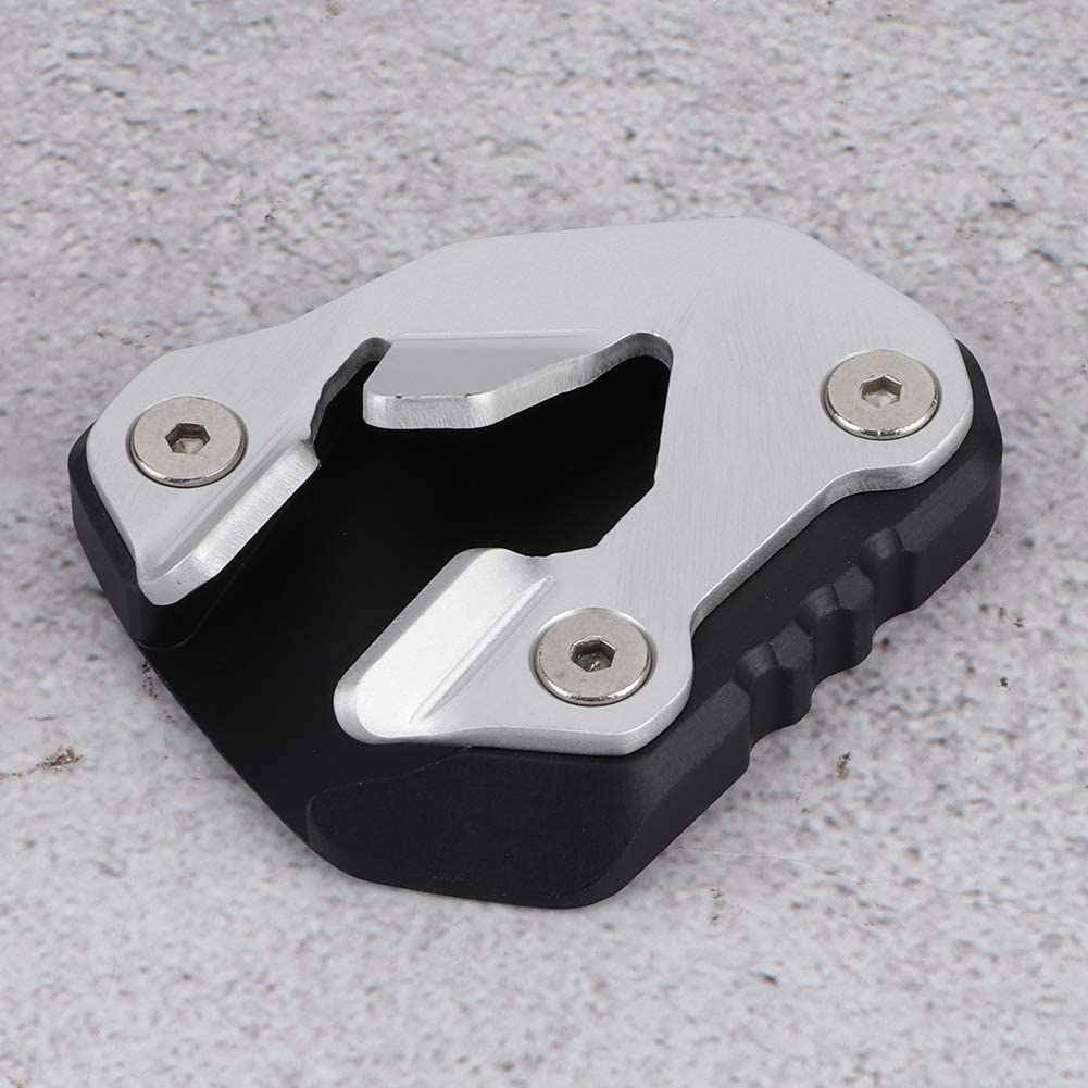 CNC Aluminum Motorcycle Anti-Slip Side Stand Extension Pad Enlarge Fit for Tiger 800 2017-2020 Side Stand Enlarger