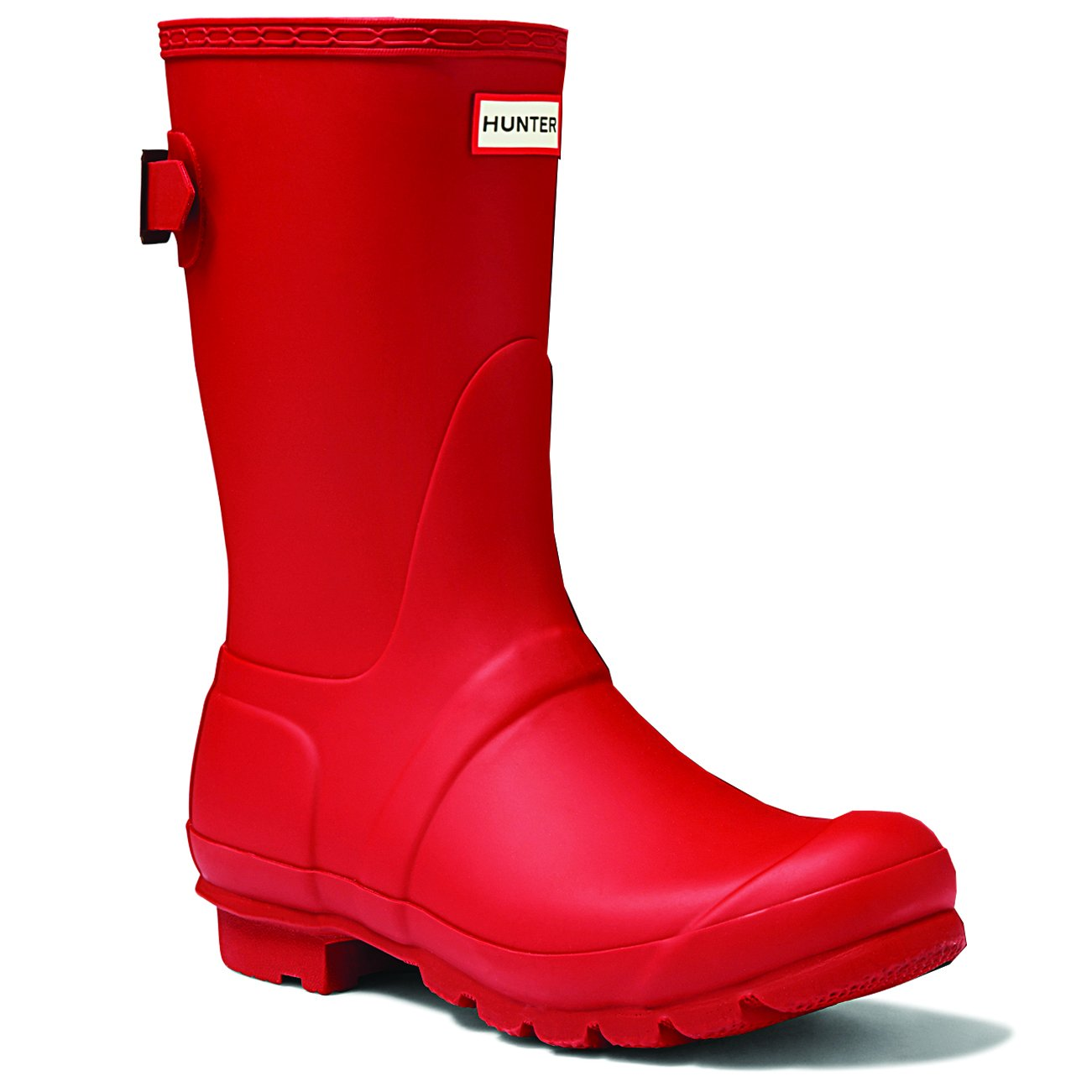 Military Red Hunter Boots Women's Original Back Adjustable Short Rain Boot