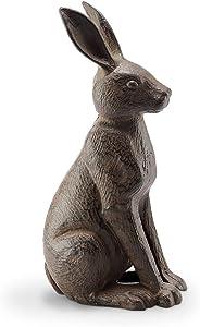SPI Home Good Listener Cast Iron Rabbit Sculpture