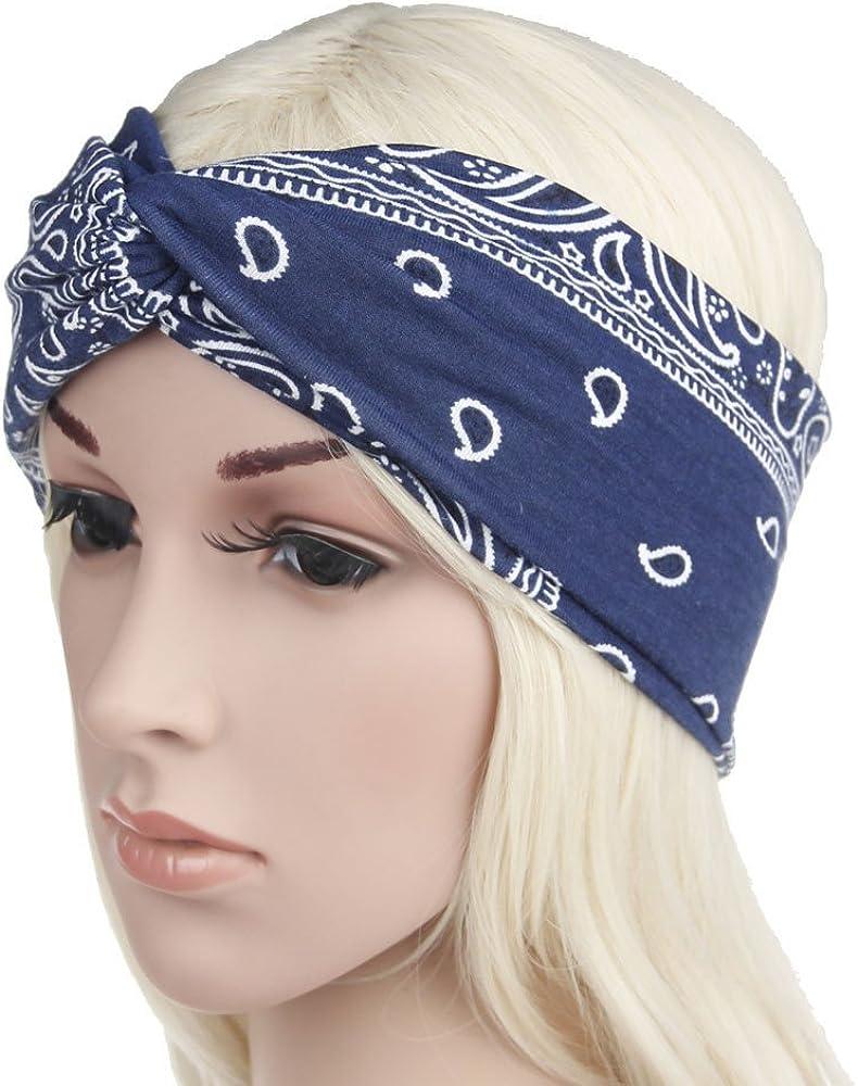 Damen Muslimisch Baumwolle Faltbar Stretch Turban Bandanas Stirnband Chemo Kappe