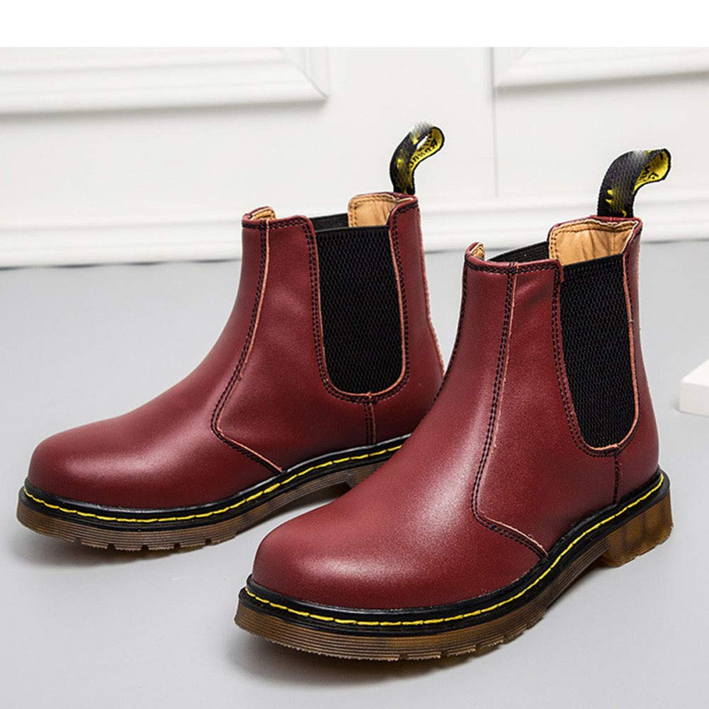 WDYY Classic England Herren Paar Leder Casual England Classic Martin Stiefel ROT d6be45