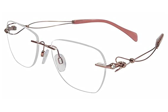 6e2fe5ea1 Charmant Line Art Women's Eyeglasses XL2096 XL/2096 RO Rose Optical Frame  51mm