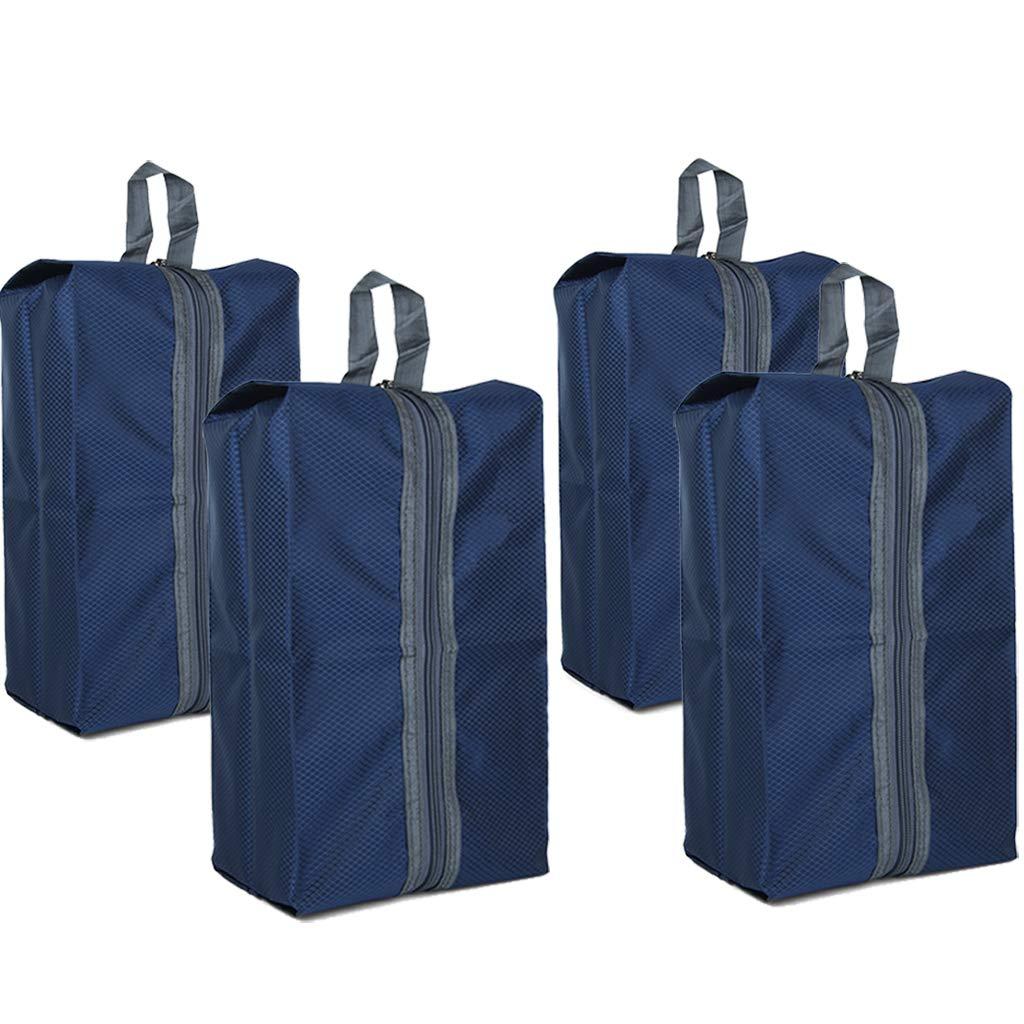 RIY Travel Shoe Bags Waterproof Nylon With Zipper For Men Women Packs 4