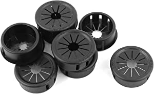 uxcell 9pcs 25mm Mounted Dia Snap in Cable Hose Bushing Grommet Protector