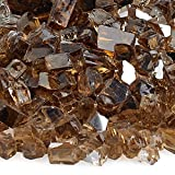 American Fireglass 10-Pound Reflective Fire Glass with Fireplace Glass and Fire Pit Glass, 1/4-Inch, Copper