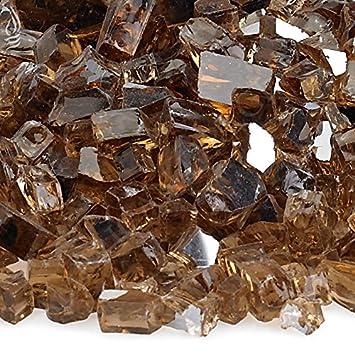 Amazon.com : American Fireglass 10-Pound Reflective Fire Glass ...