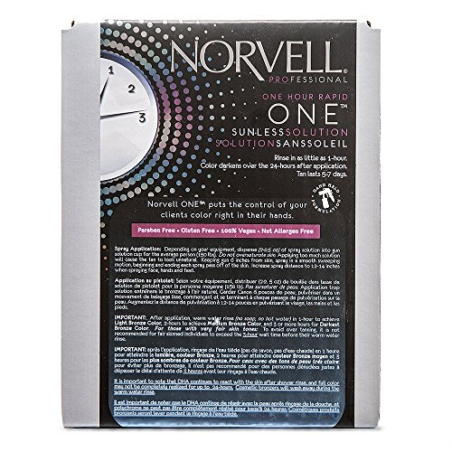 Norvell Premium Sunless Tanning Solution – One Hour Rapid, 1 Liter Box