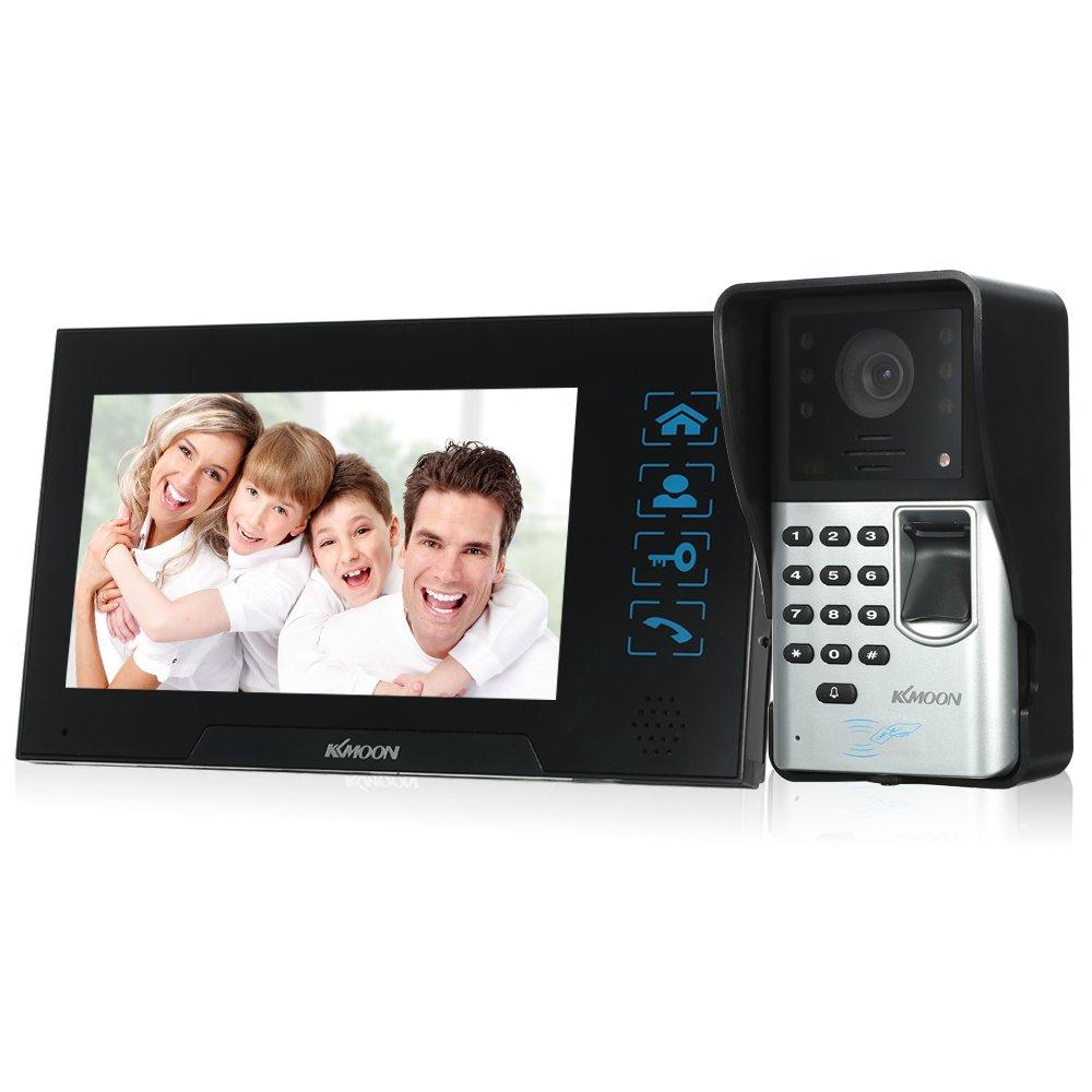 KKmoon ドアスコープカメラ 7インチ ドアアイ デジタル穴あきビューア ベルカメラ IRナイトビジョン 遠隔ロック解除機能 25種類選択可 指紋でロック解除機能 B07B9BGM69