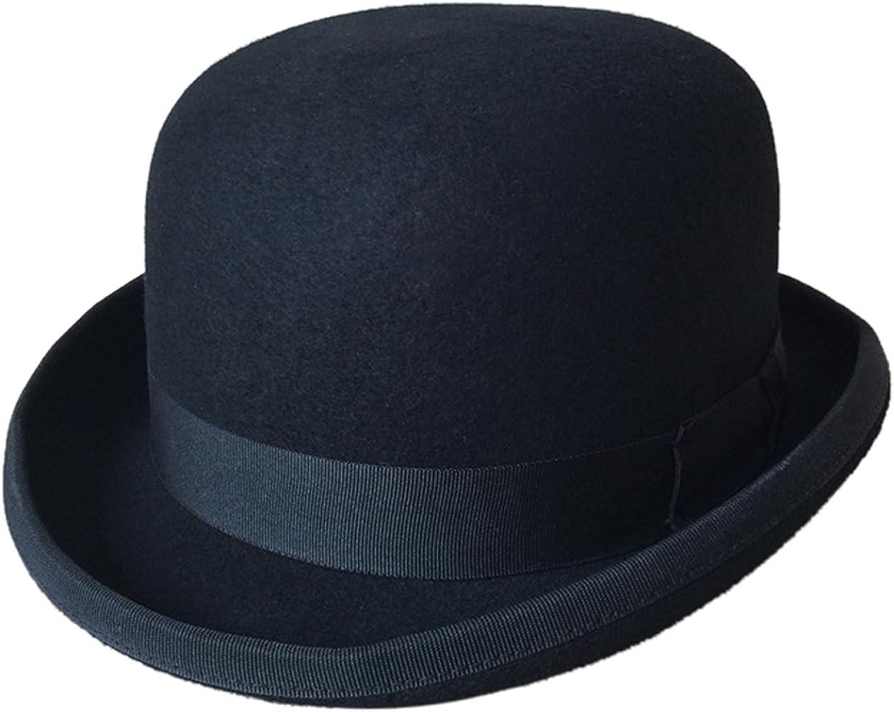 La vogue Sombrero de Jazz Hongo Fieltro Hombre Mujer Hat Vintage Negro