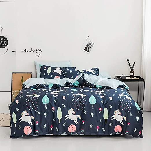 Unicornio Fundas de cama para niñas 100% algodón Coverlet Cubierta ...