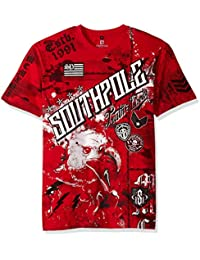Men's Short Sleeve Hd, Foil, Flock Print All Over Graphic Tee