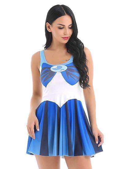 3cb2e485286 Amazon.com: Freebily Sexy Women Girl Sailor Moon Cosplay Costume ...